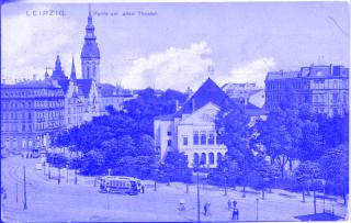 Historische Postkarte von Leipzig